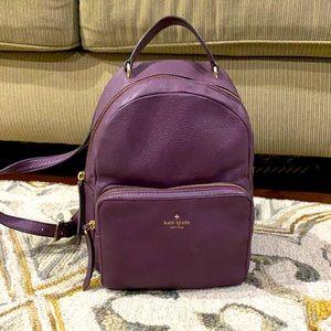 ♠️ Kate spade purple leather medium backpack purse